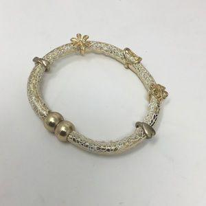 Jewelry - Gold & White Magnetic Charm Bracelet